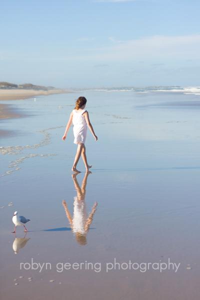 Ruby walking on Min Beach
